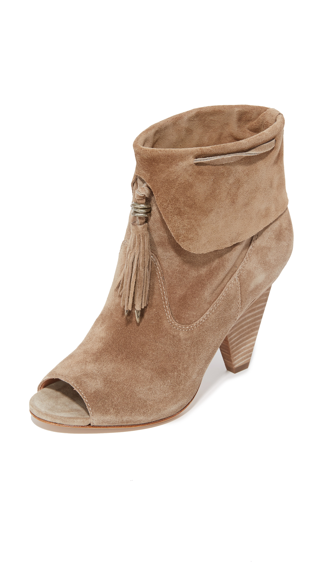 Sigerson Morrison Faro Open Toe Booties - Cloud