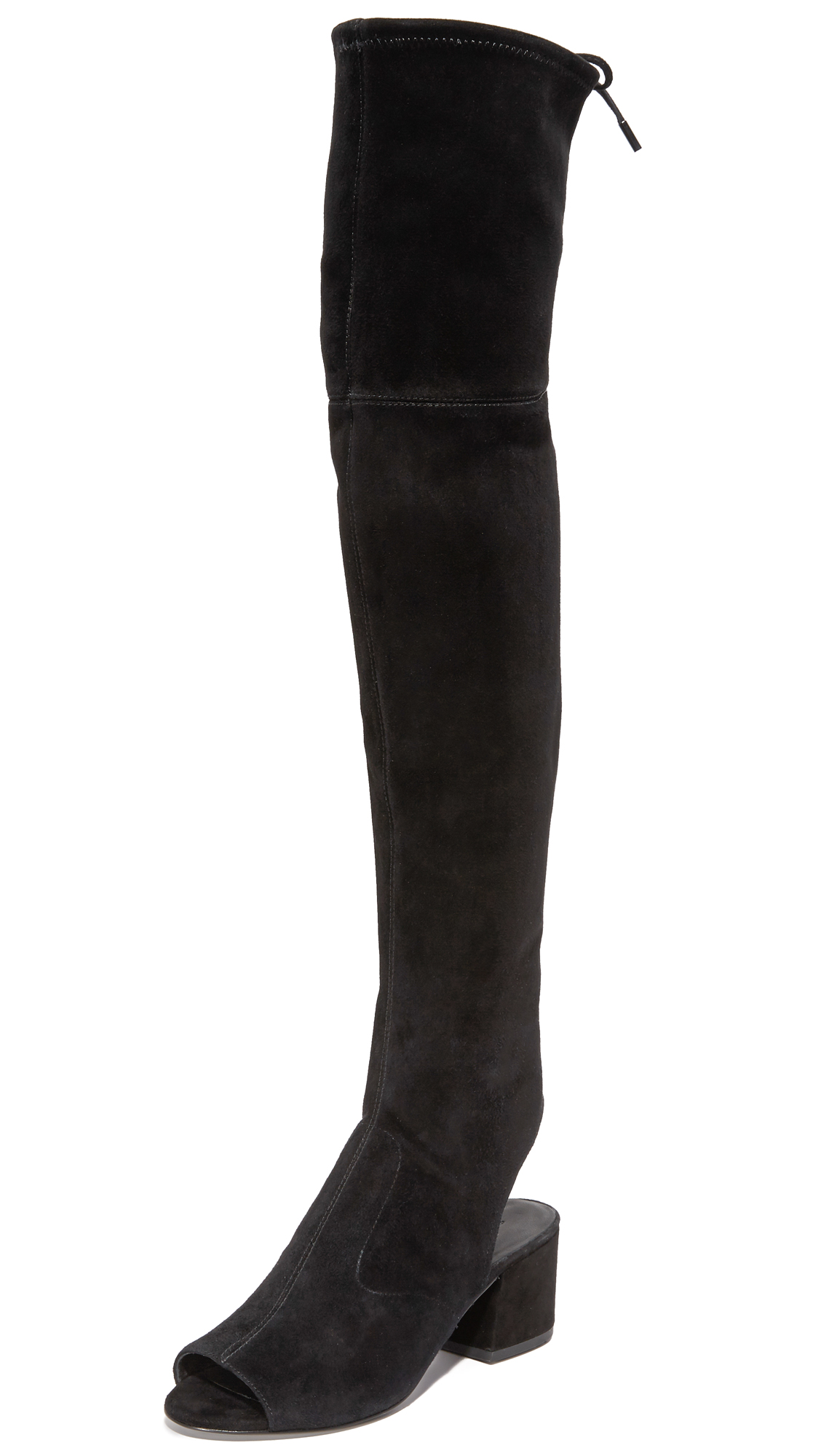 Sigerson Morrison Mason Over The Knee Open Toe Boots - Black