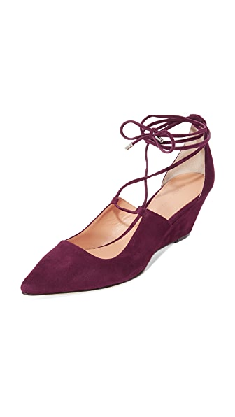 Sigerson Morrison Wynne Lace Up Wedge Pumps