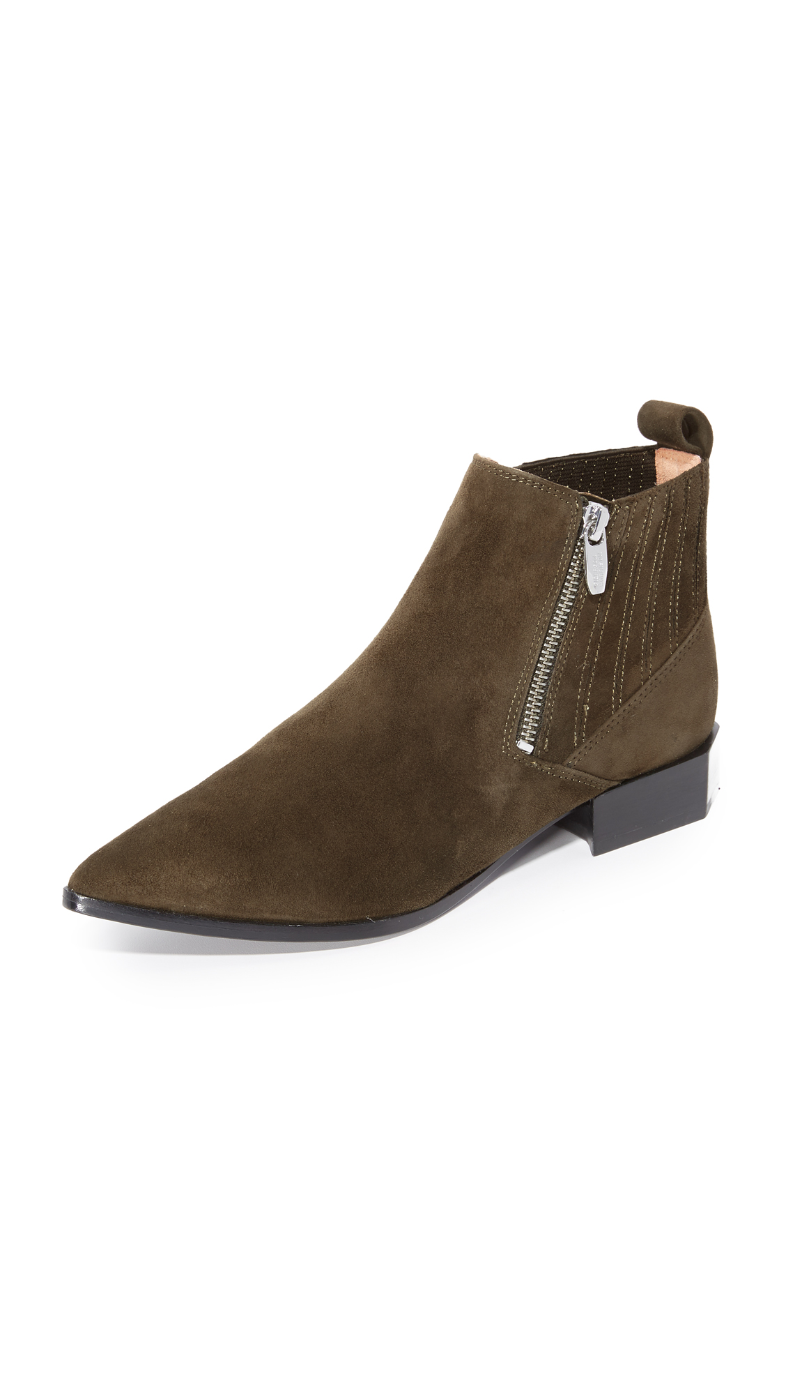 Sigerson Morrison Bambi Booties - Dark Olive