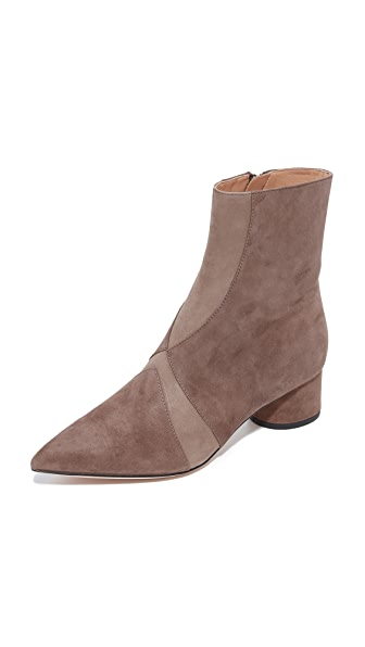 Sigerson Morrison Zero Patchwork Booties - Light Brown/Mocha