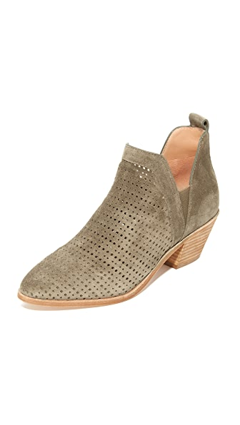 Sigerson Morrison Bonnie Perforated Suede Booties - Alpaca/Alpaca