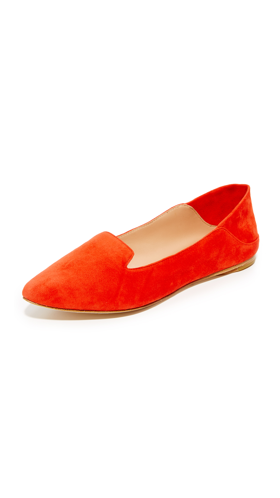 Photo of Sigerson Morrison Valentine Fold Down Flats Coral Red - Sigerson Morrison online