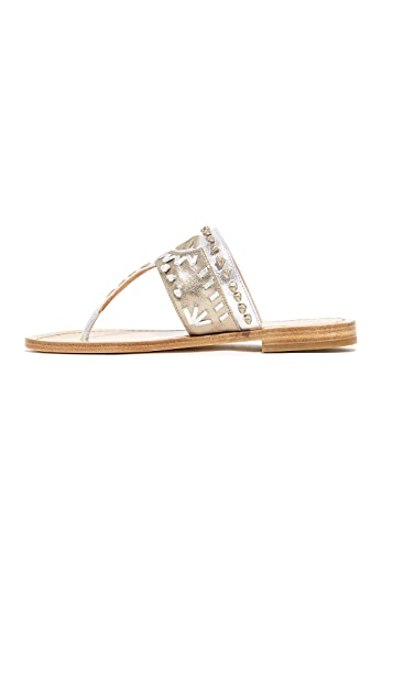 Sigerson Morrison Aliyah Embroidered Sandals