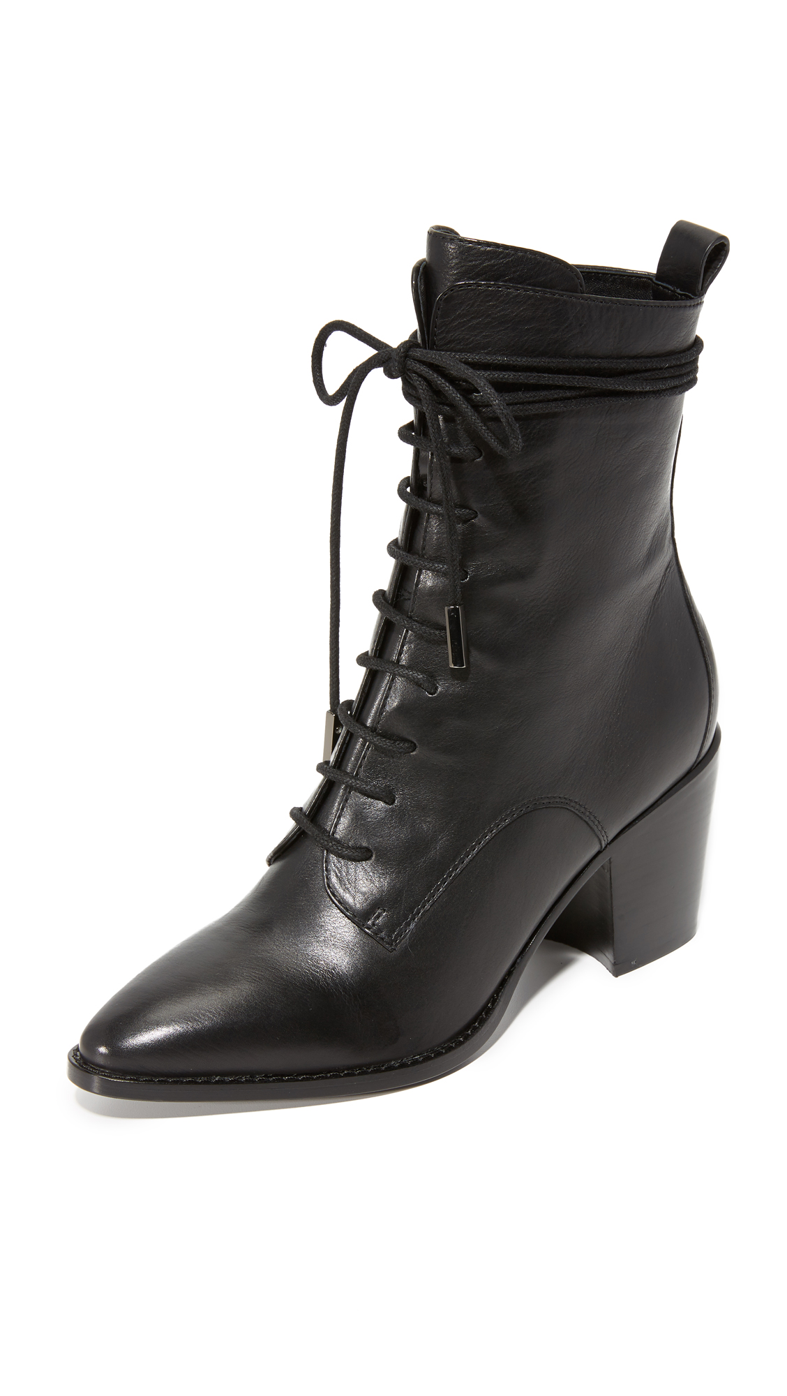 Sigerson Morrison Duran Lace Up Boots - Black