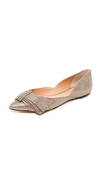 Sigerson Morrison Simona Flats In Light Olive