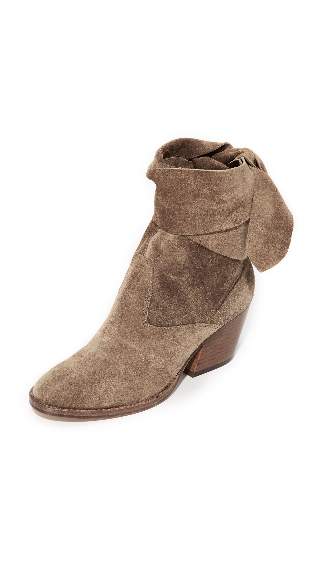 Sigerson Morrison Lori Suede Booties - Larice