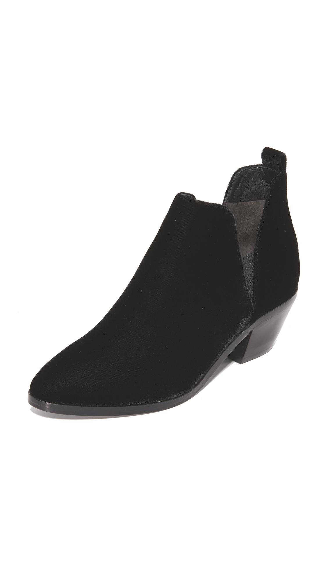 Sigerson Morrison Belin Velvet Booties - Black