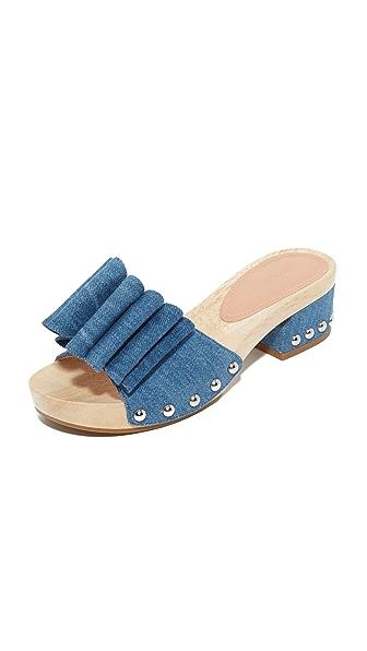Sigerson Morrison Aida 2 Clogs - Jeans Blue