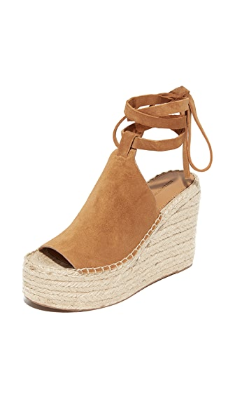 Sigerson Morrison Audora Espadrille Wedge Sandals - Croissant