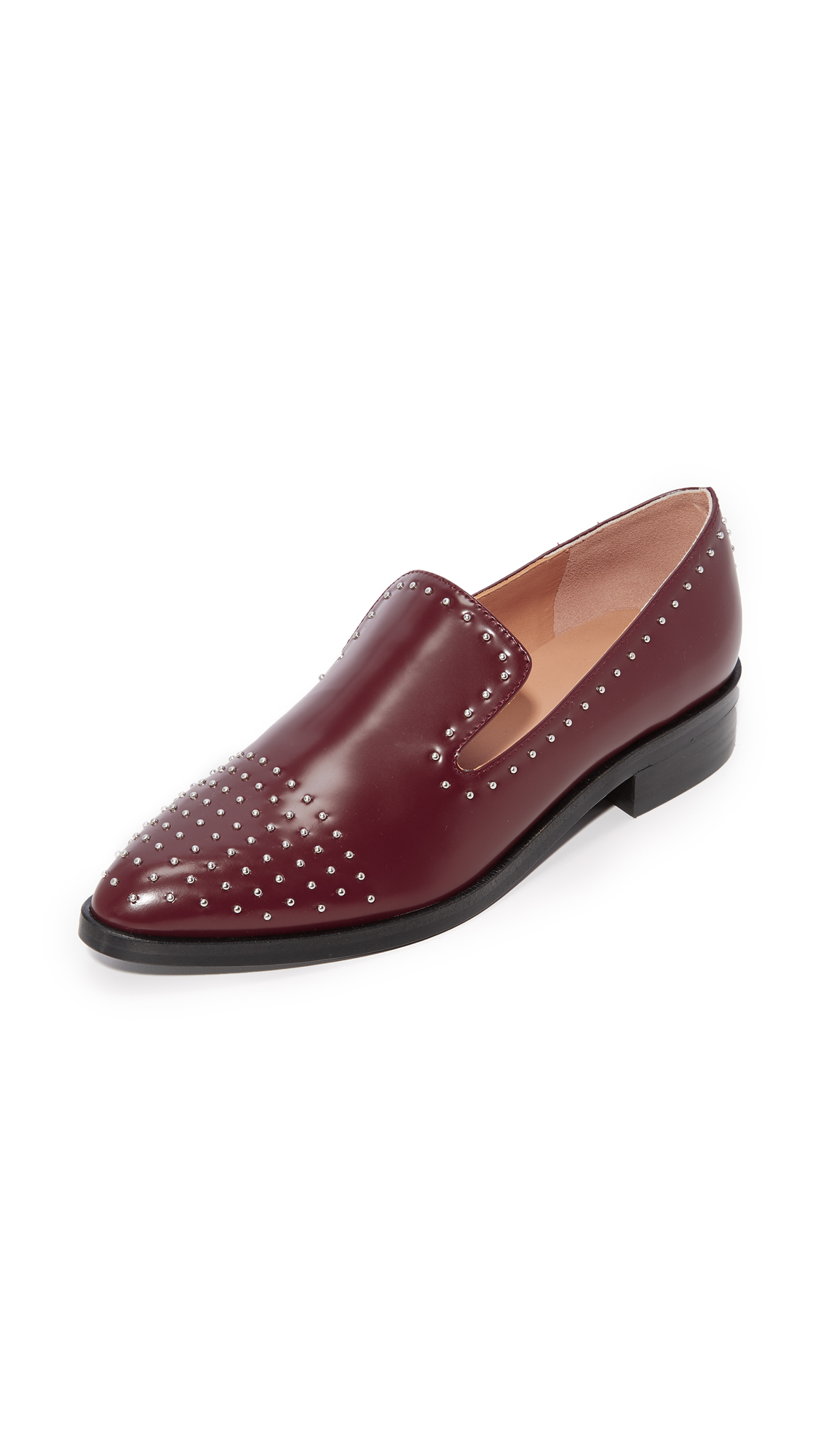 Sigerson Morrison Edna Studded Loafers - Bordo