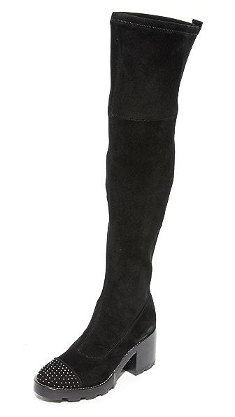 Sigerson Morrison Gemma Thigh High Boots In Black