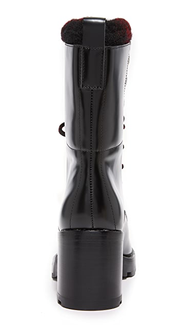 Sigerson Morrison Gladys Lace Up Booties