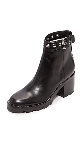 Sigerson Morrison Glove Buckle Booties - Black