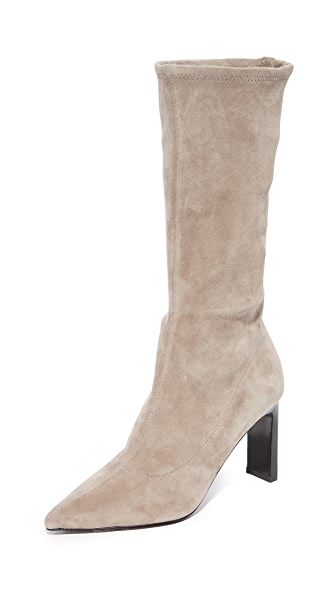 Sigerson Morrison Holly Mid Calf Boots - Taupe