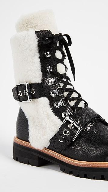 Sigerson Morrison Iris Shealing Buckle Boots