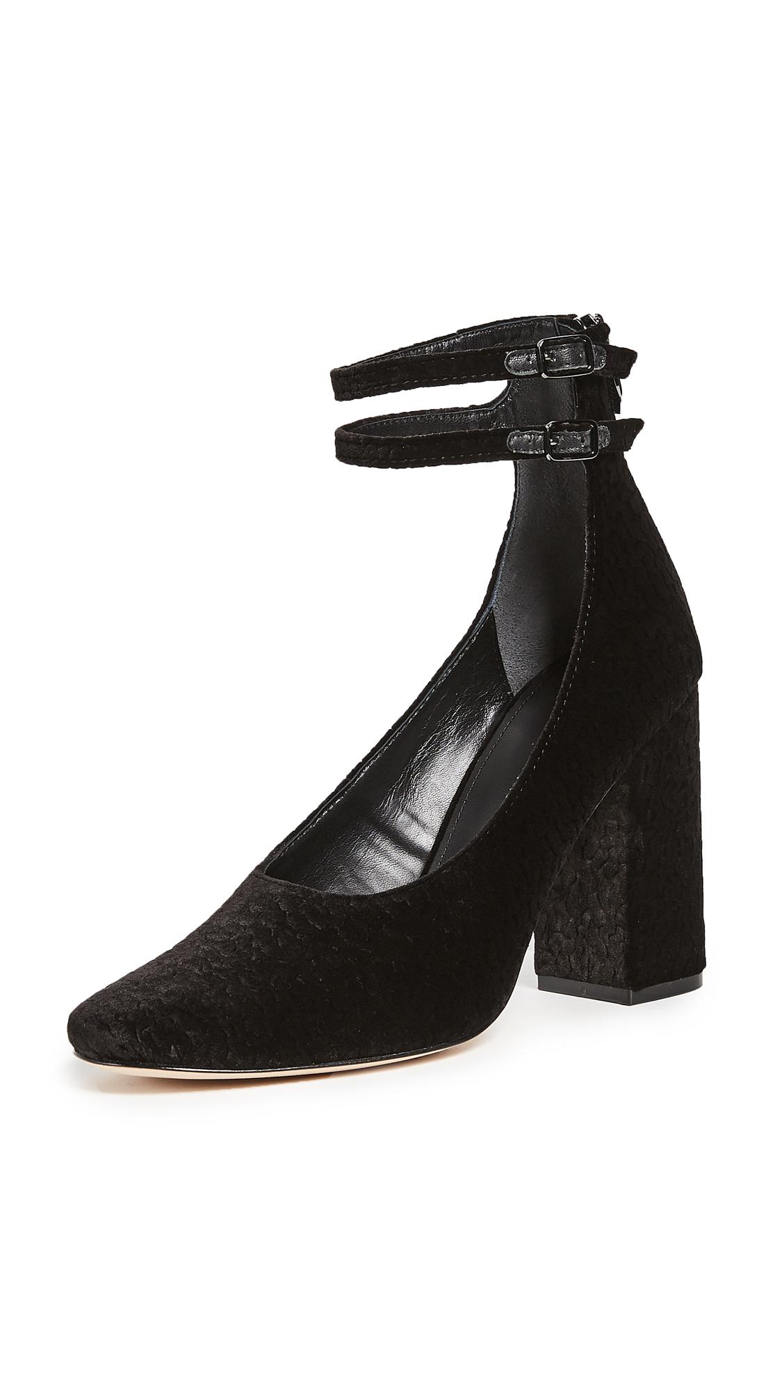 Sigerson Morrison Plum Ankle Strap Pumps - Black
