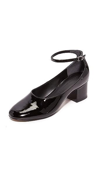 Sigerson Morrison Kairos Ankle Strap Pumps In Black