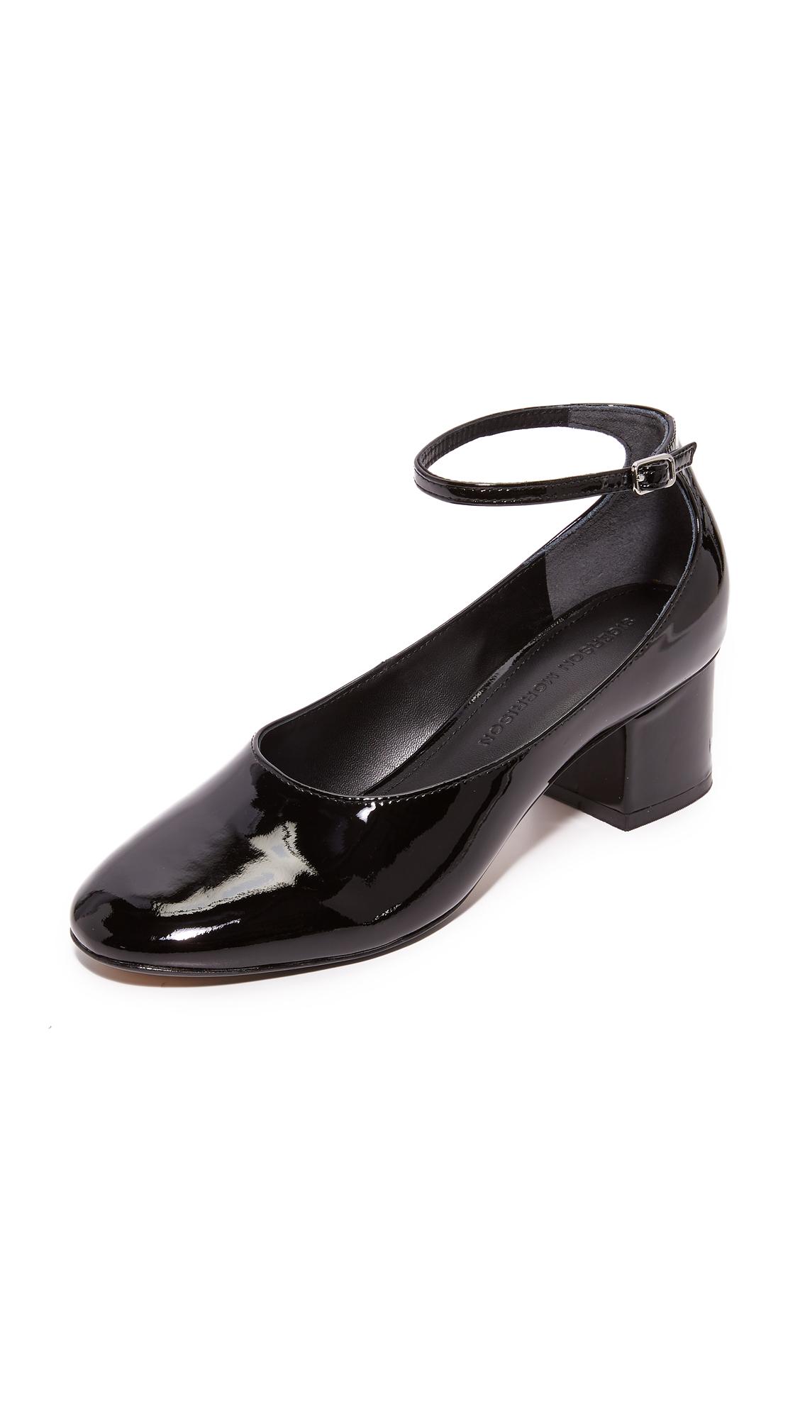 Sigerson Morrison Kairos Ankle Strap Pumps - Black