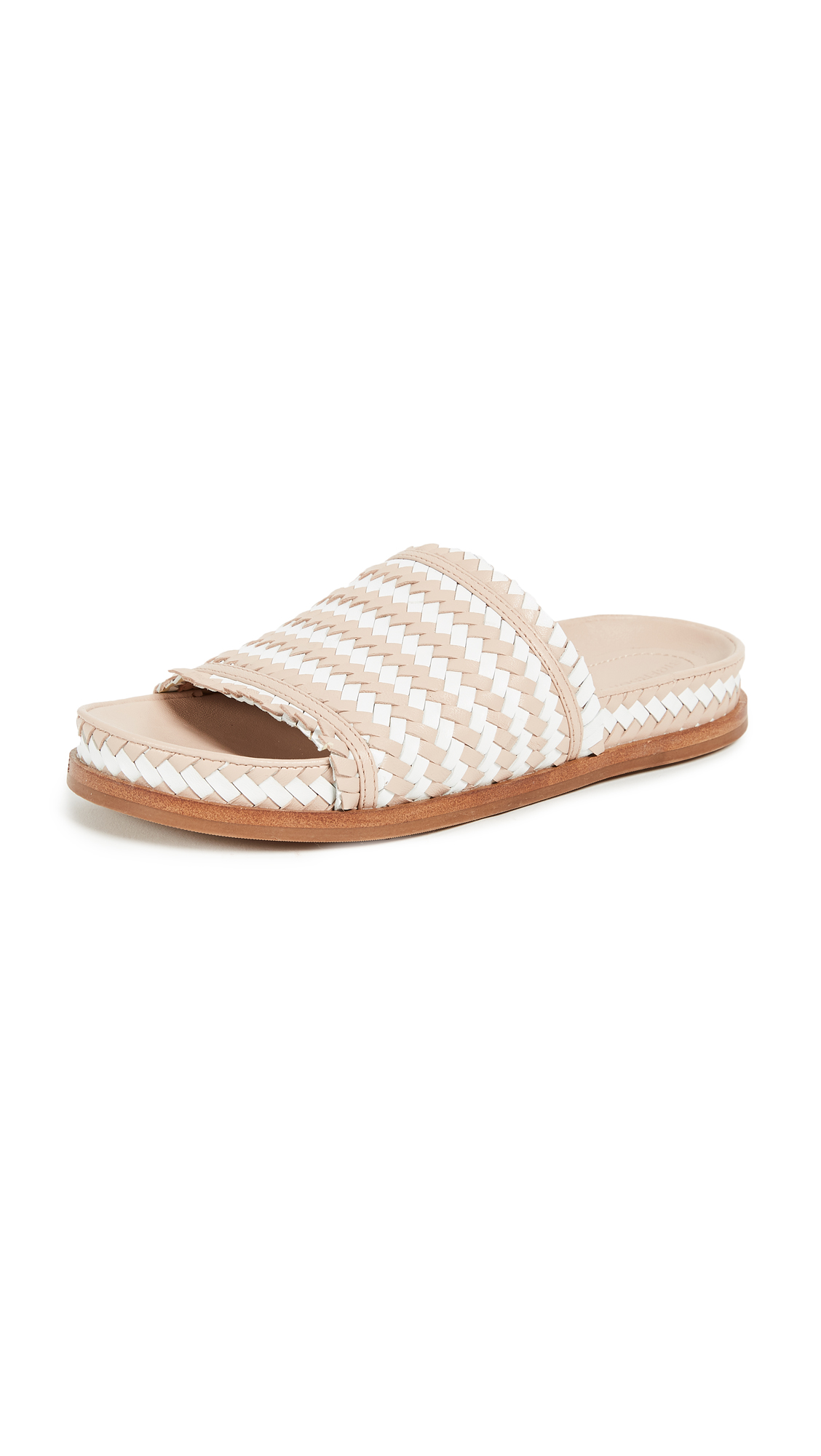 Sigerson Morrison Aoven Woven Sandals - Blush/White