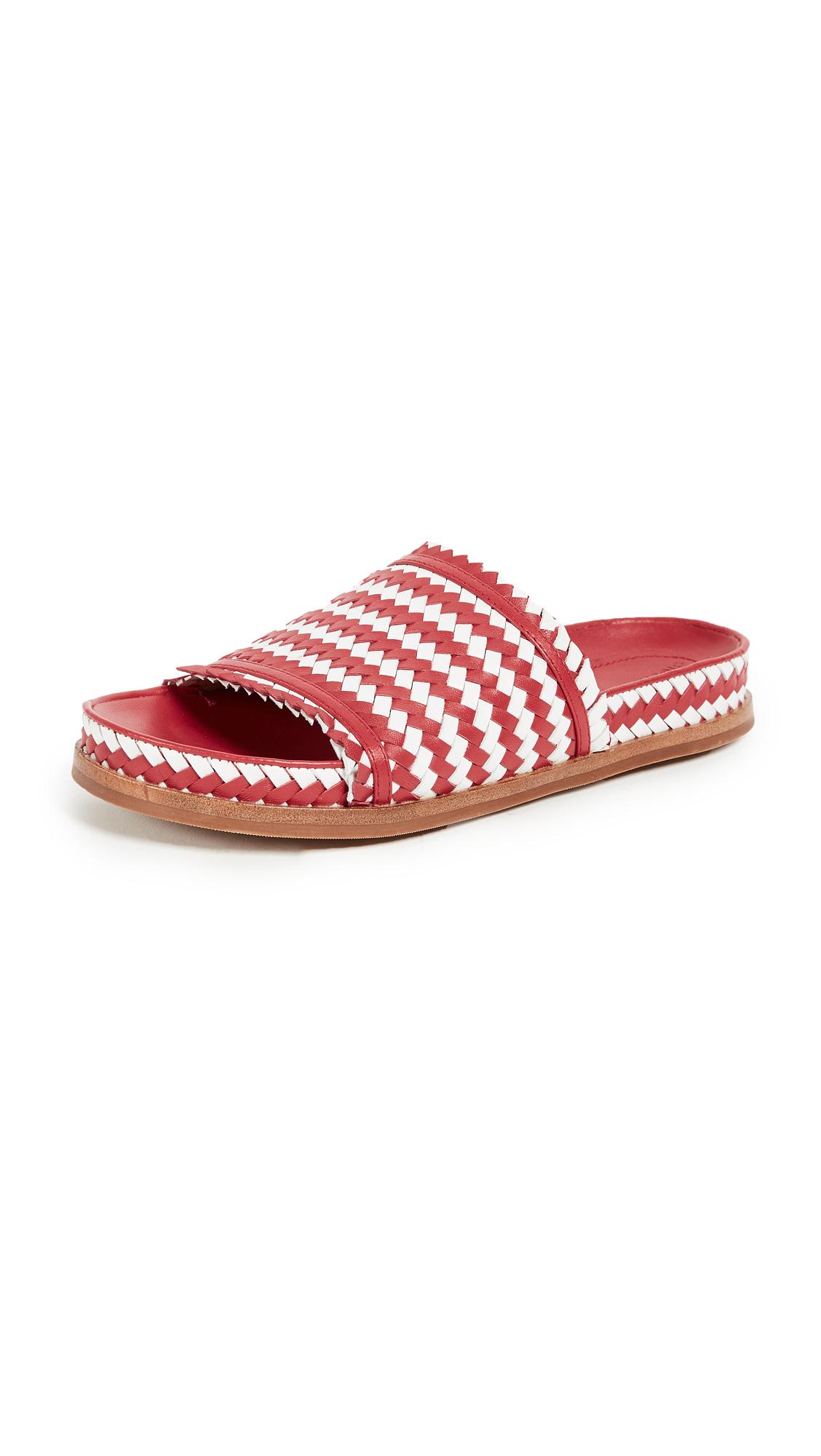 Sigerson Morrison Aoven Woven Sandals - Crimson/White