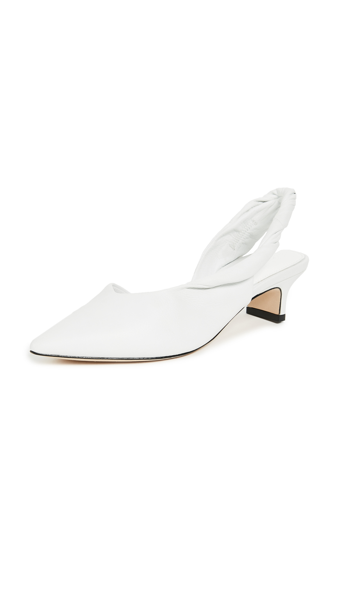Sigerson Morrison Melina Point Toe Slingbacks - White