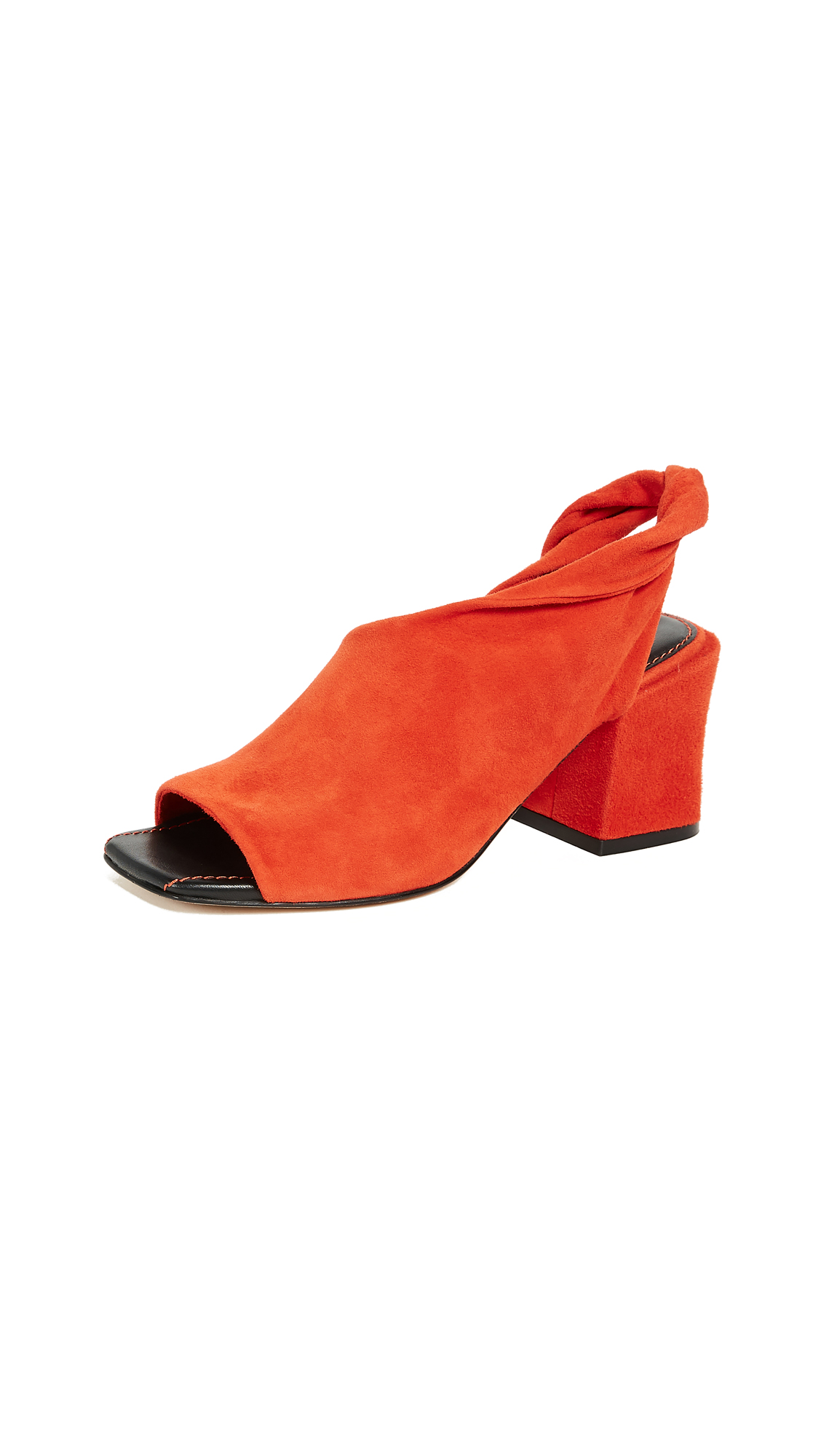 Sigerson Morrison Lenny Block Heel Pumps - Orange