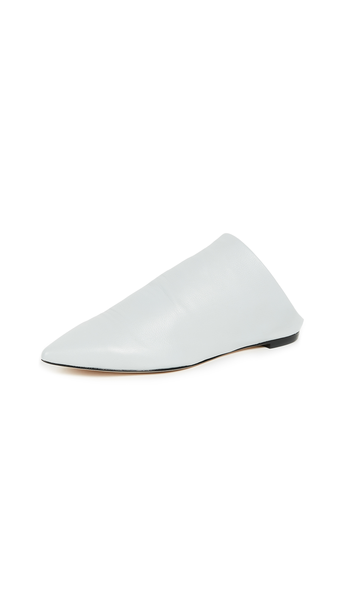 Sigerson Morrison Saily Point Toe Flats - Light Grey