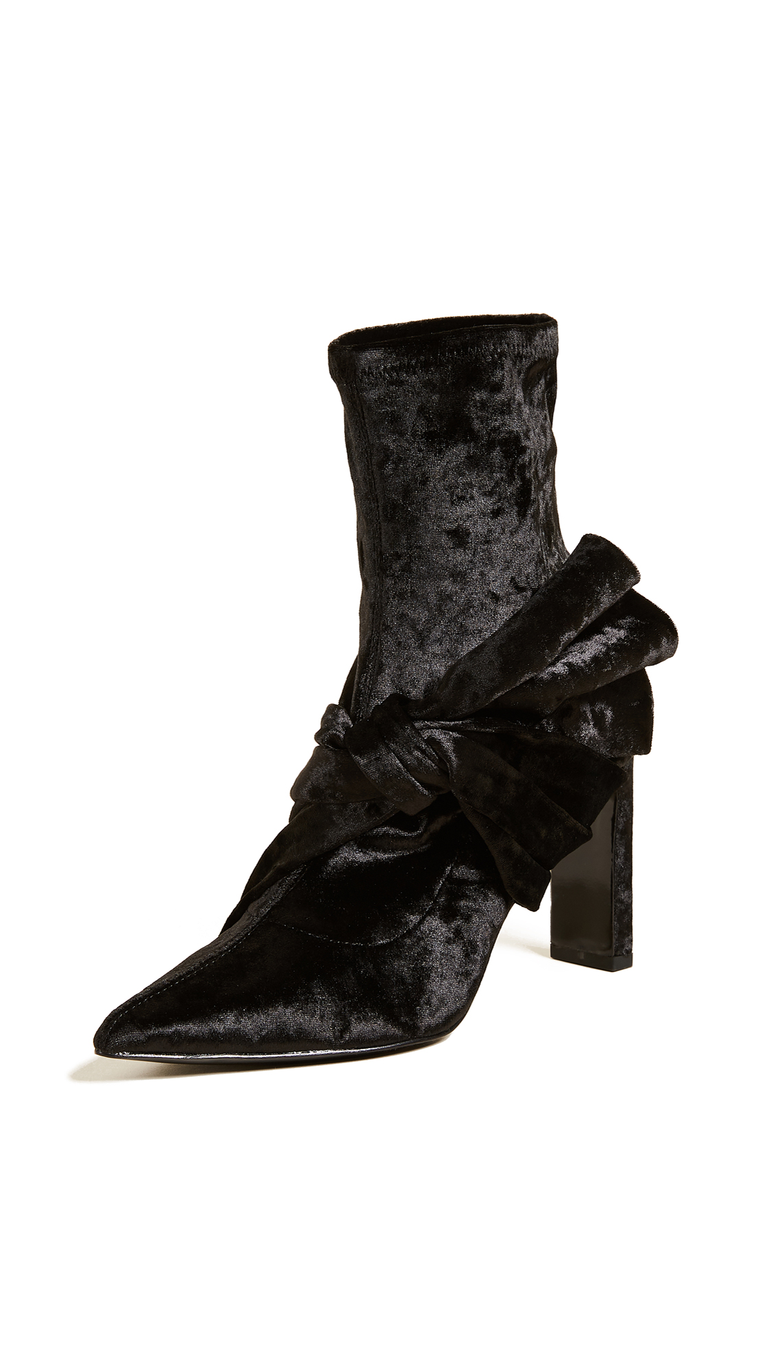 Sigerson Morrison Helin Bow Ankle Booties - Black