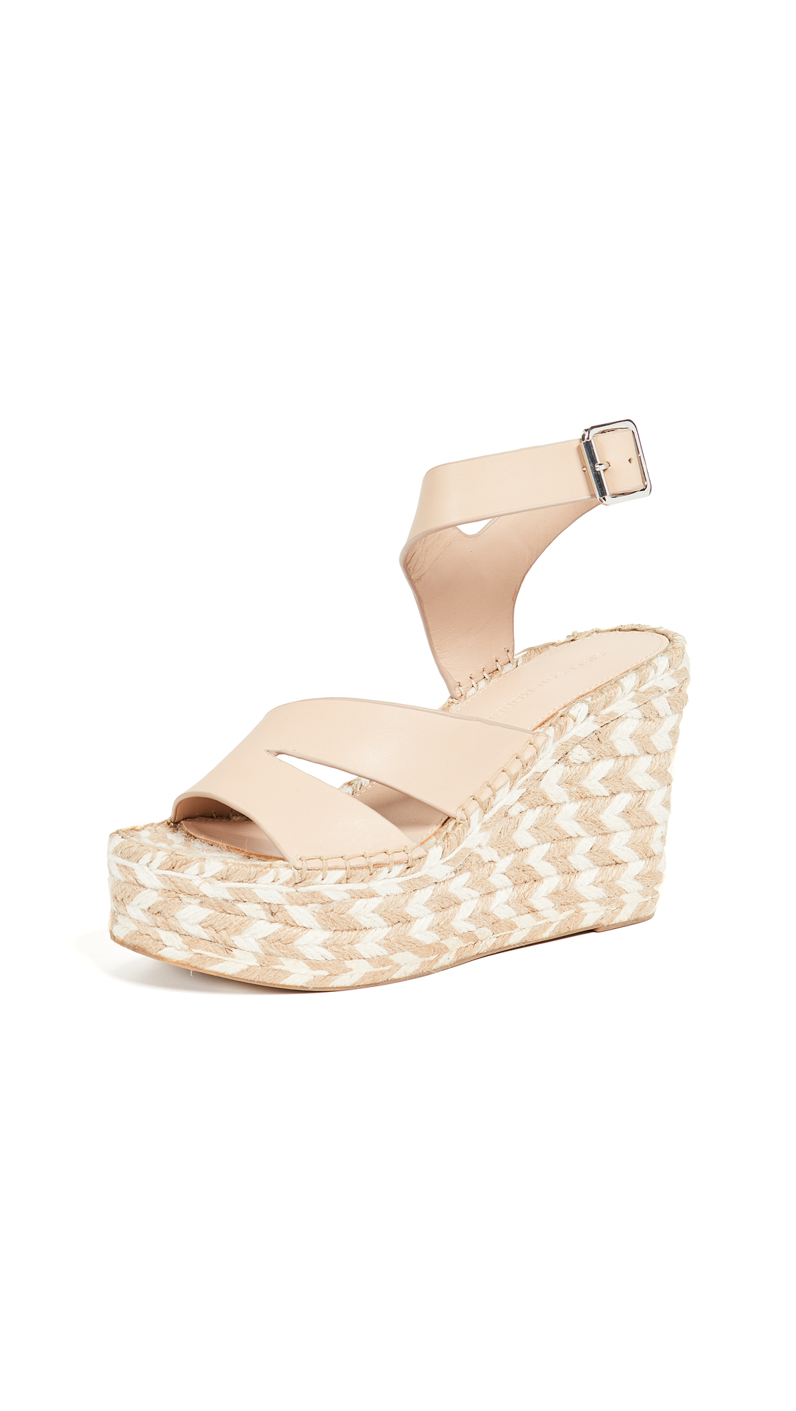 Sigerson Morrison Arien Espadrille Wedges - Light Latte