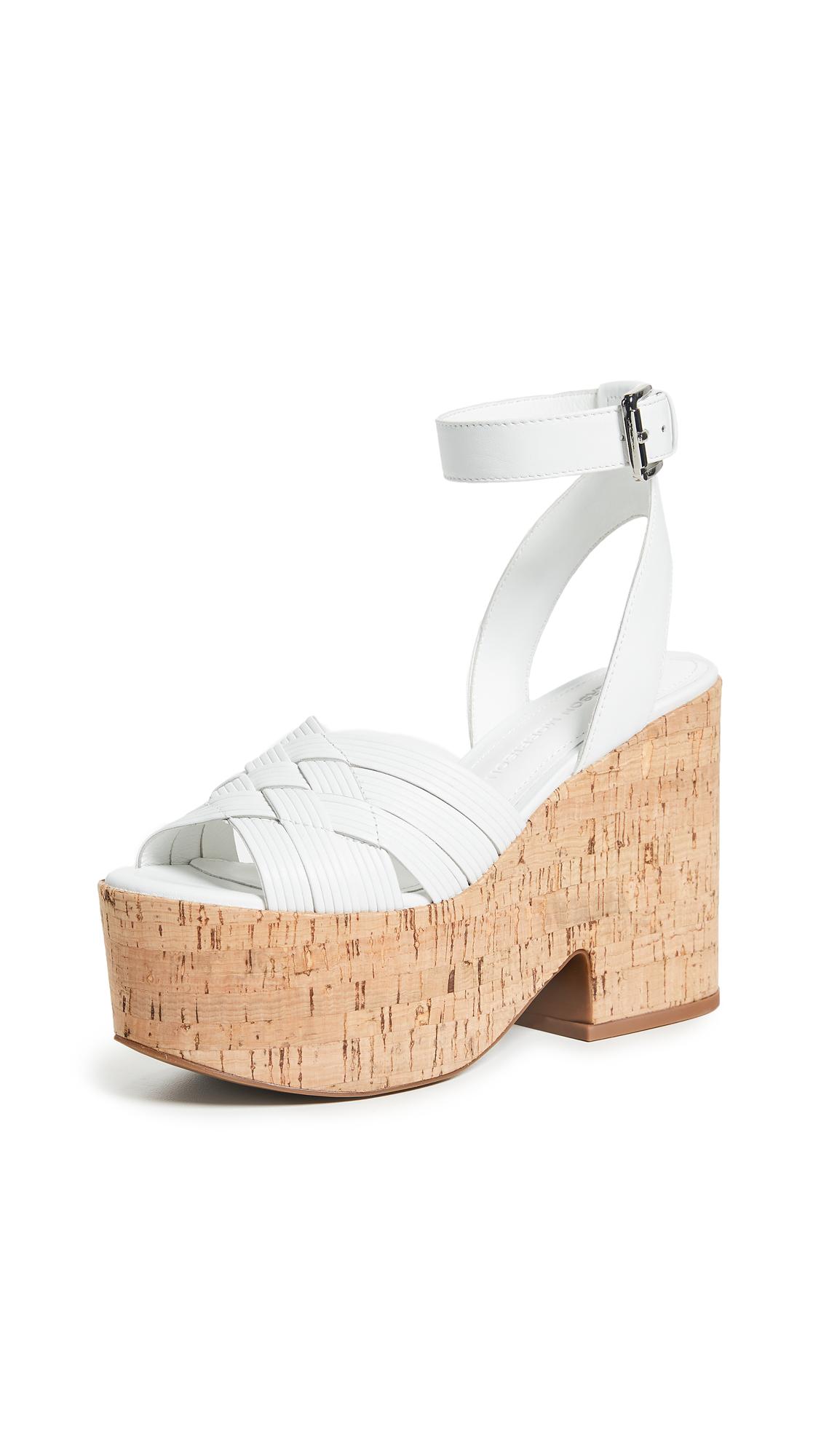 Sigerson Morrison Becca Platform Sandals - Bianco