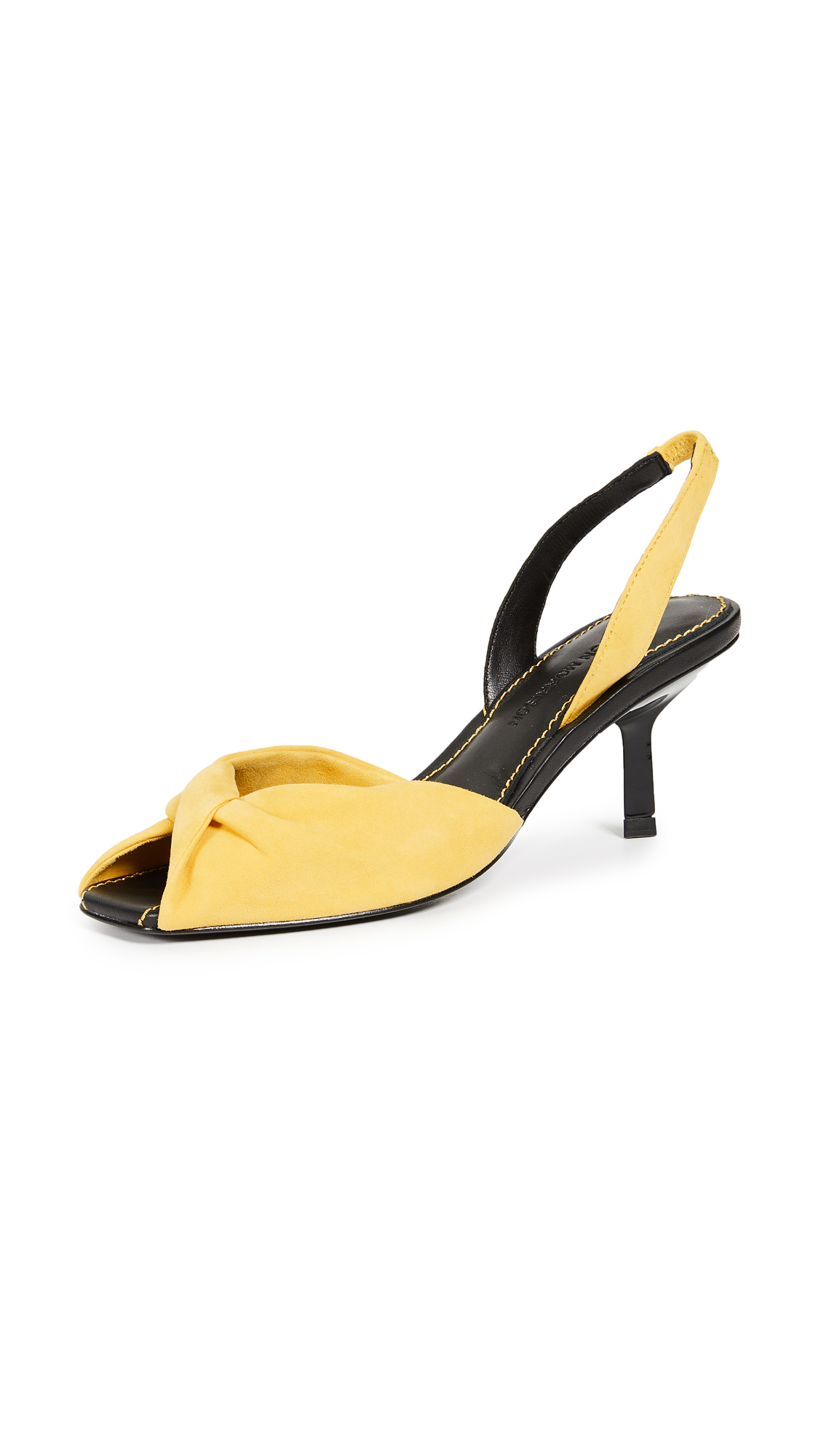 Sigerson Morrison Jana Slingback Kitten Heels - Yellow