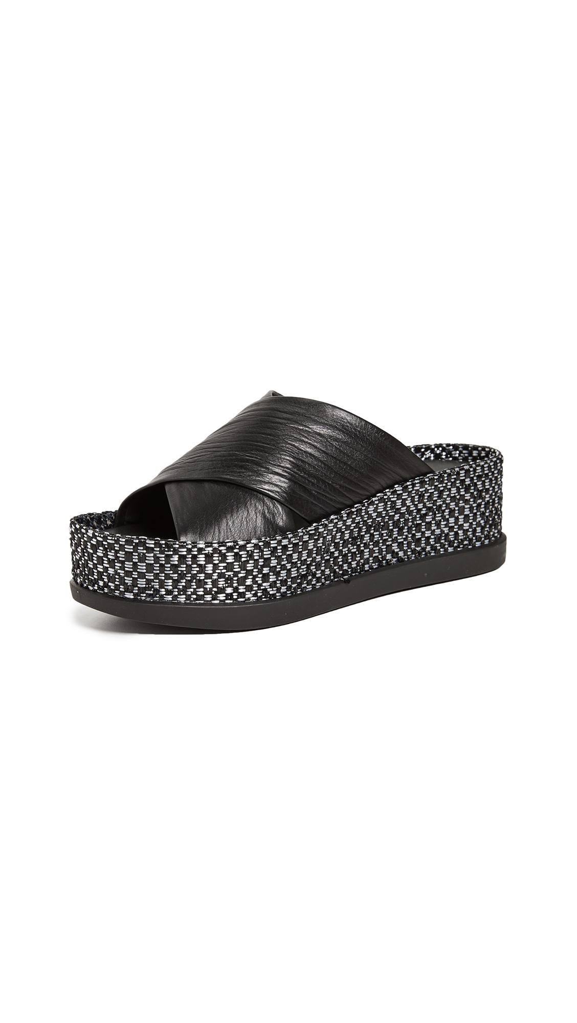 Sigerson Morrison Hana Platform Sandals - Black