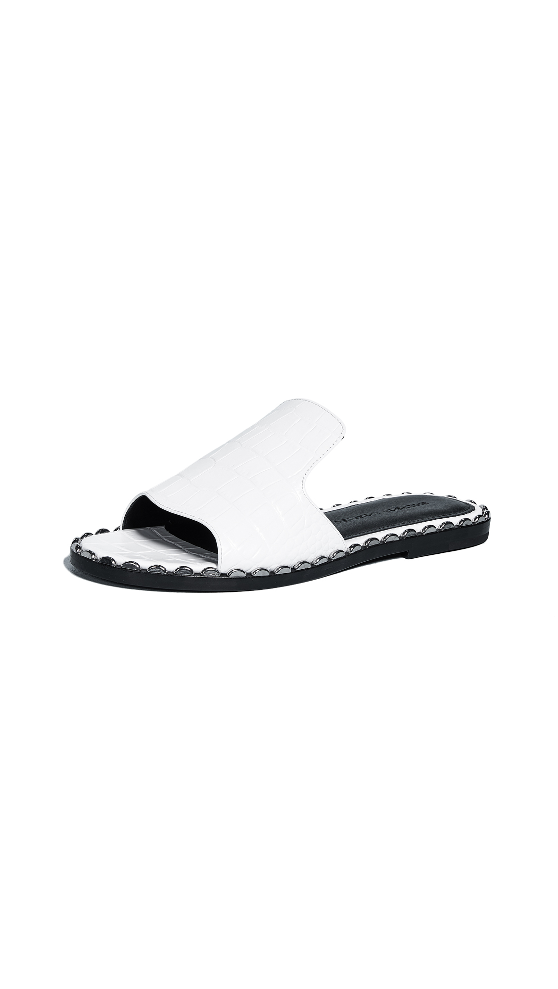 Sigerson Morrison Estee Textured Slides In White