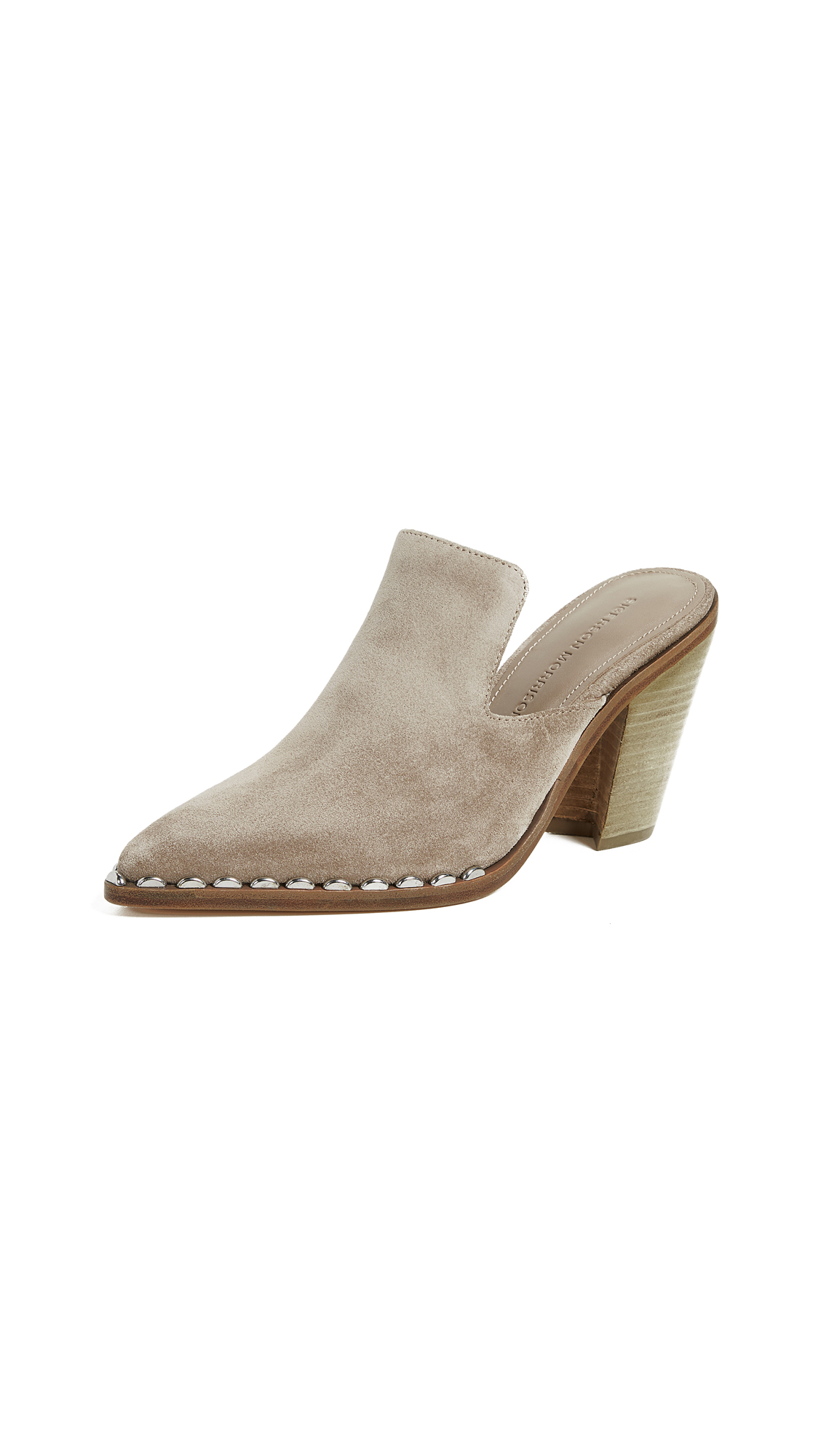 Sigerson Morrison Kacey Point Toe Mules - Cloud