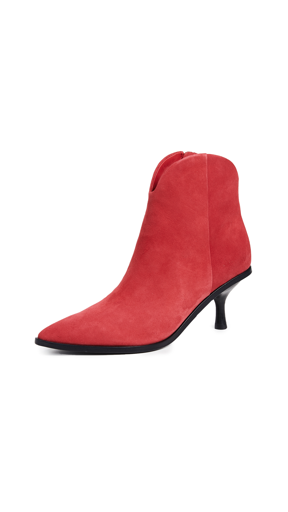 Sigerson Morrison Hayliegh Point Toe Booties - Red