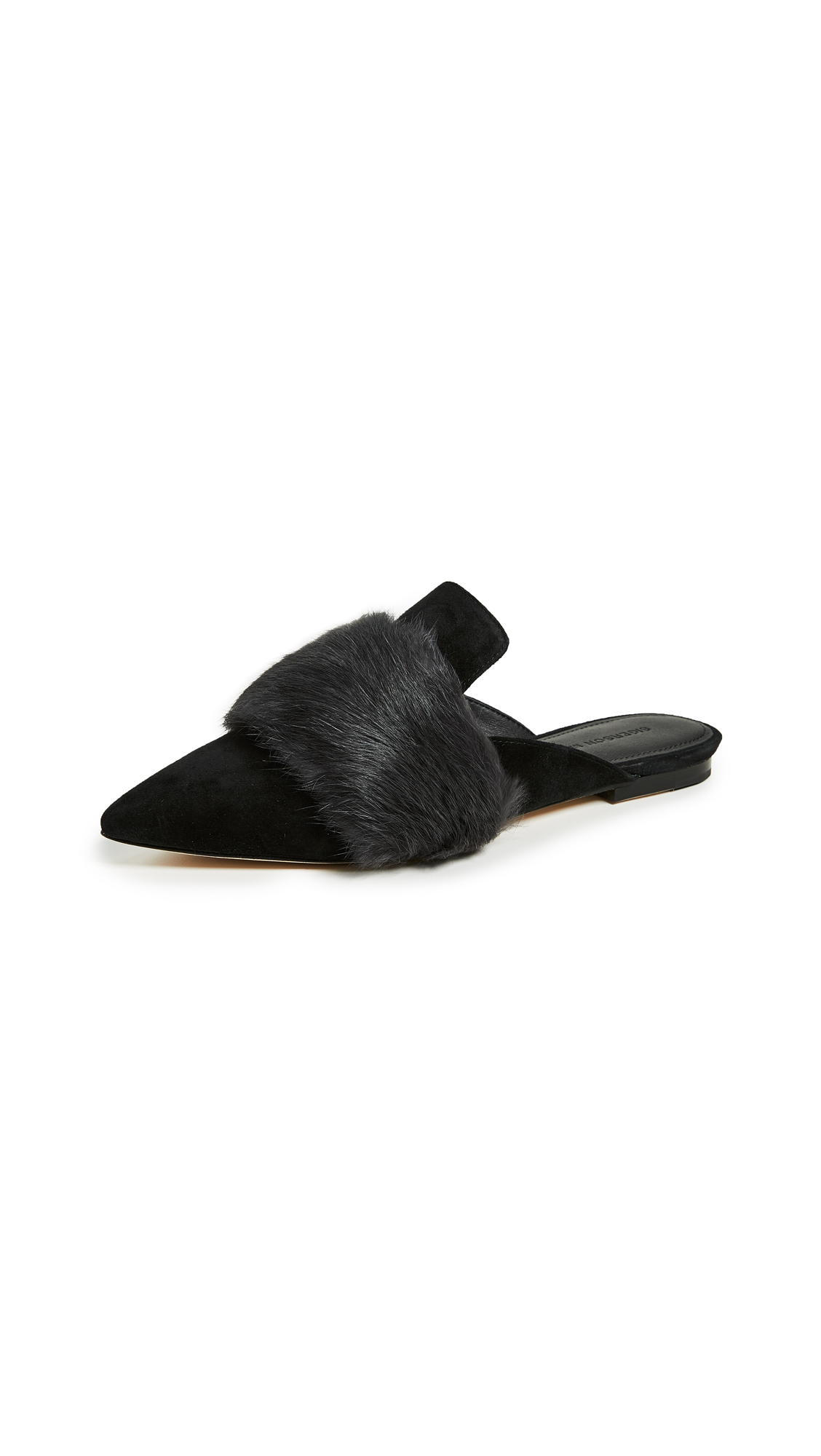 Sigerson Morrison Dawn Point Toe Mules - Black Grey