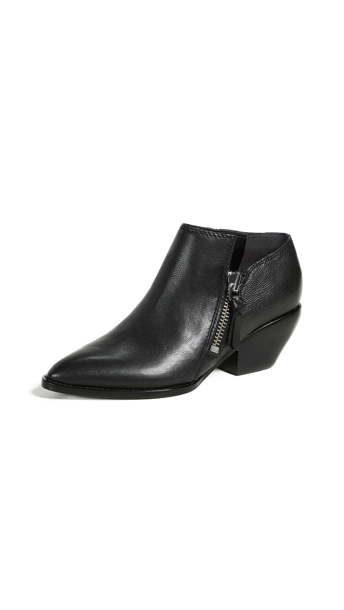 Sigerson Morrison Hannah Point Toe Booties - Black
