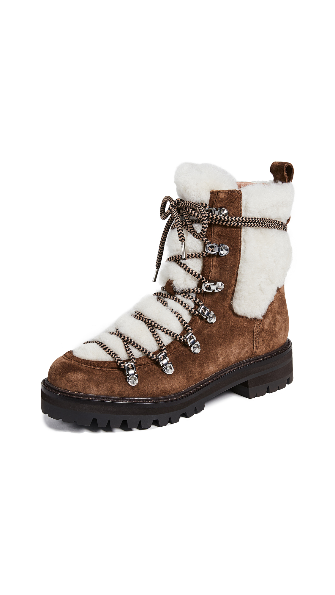 Sigerson Morrison Isla Shearling Boots - Farro/Natural