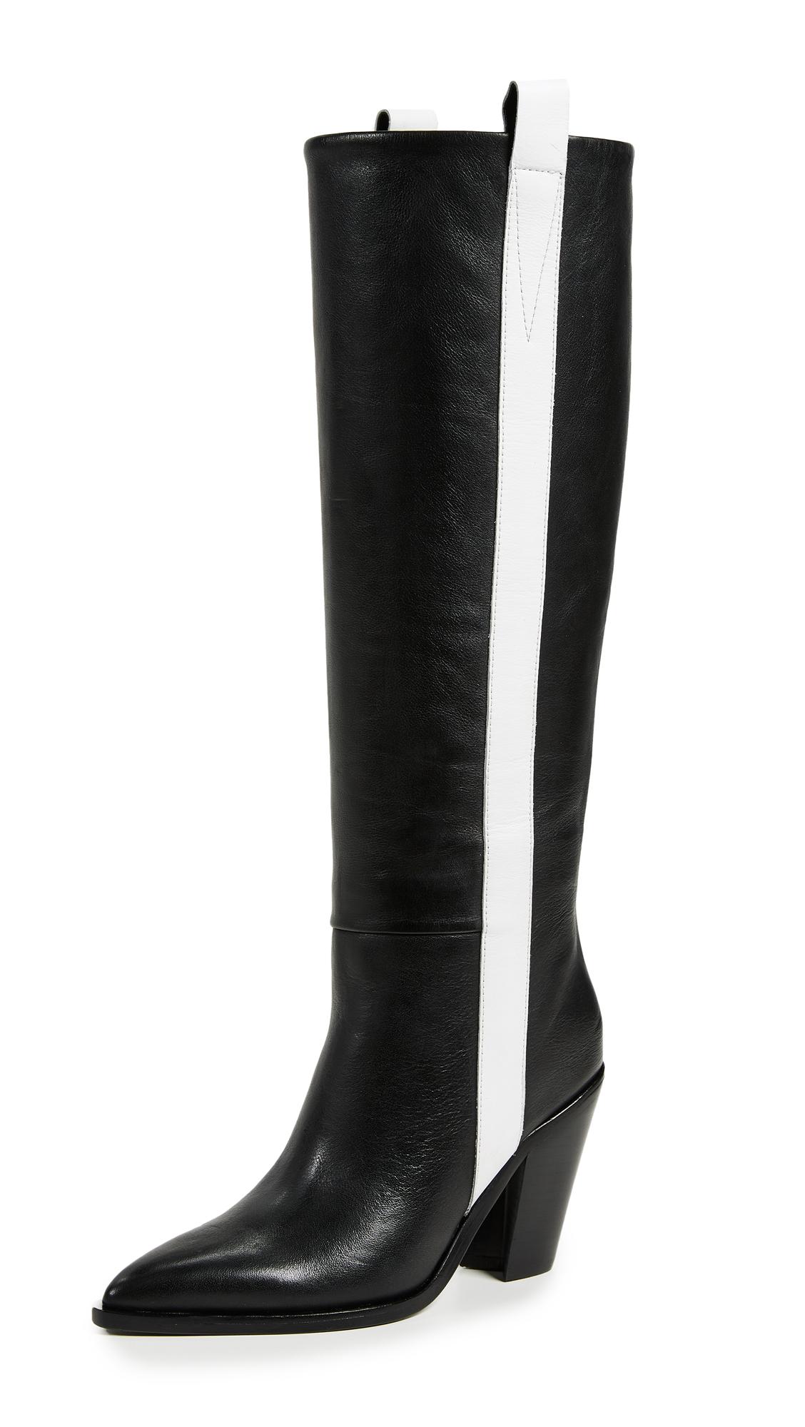 Sigerson Morrison Kaethe Boots - Black/Bianco