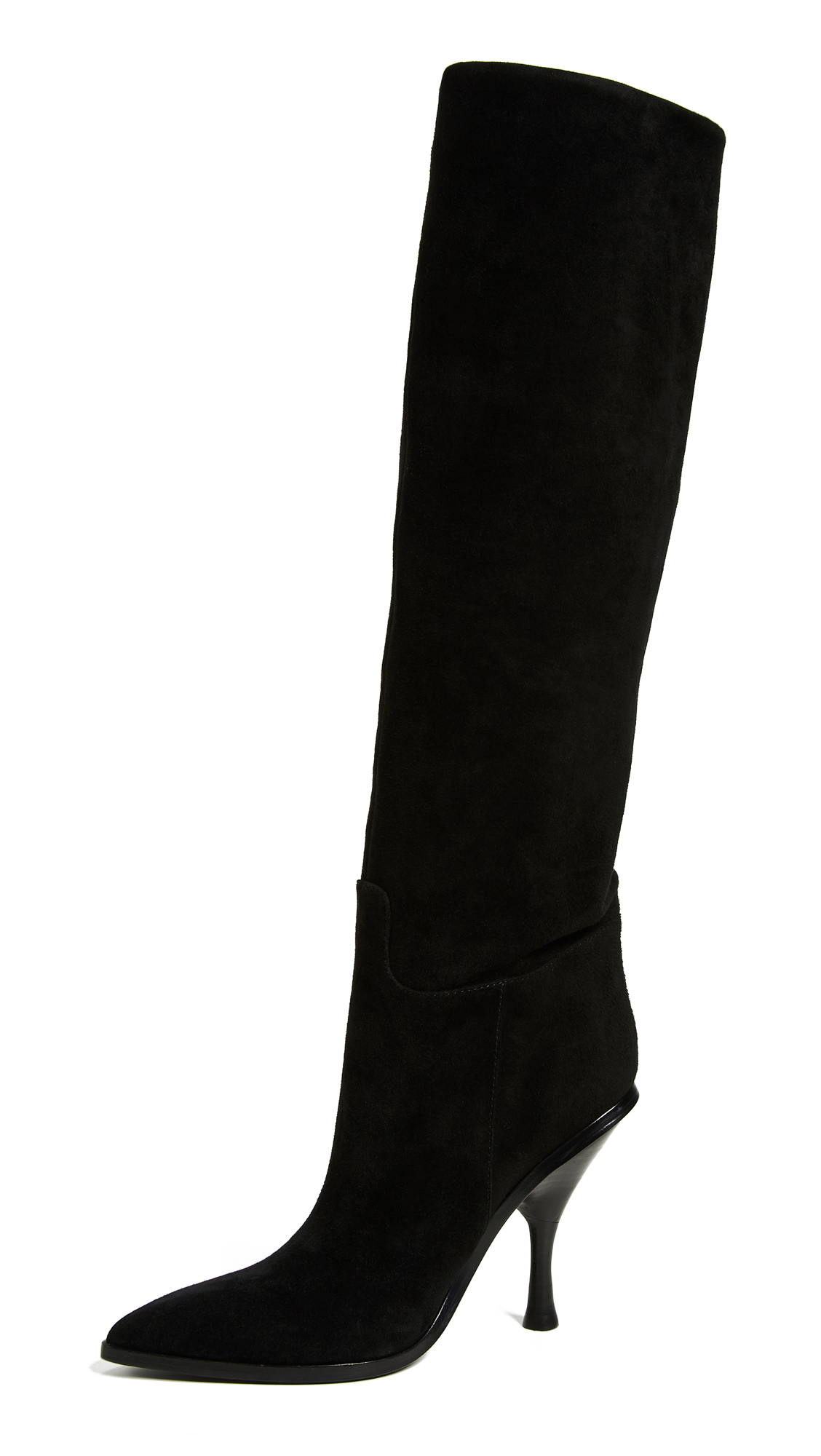Sigerson Morrison Halie Pointed Toe Boots - Black