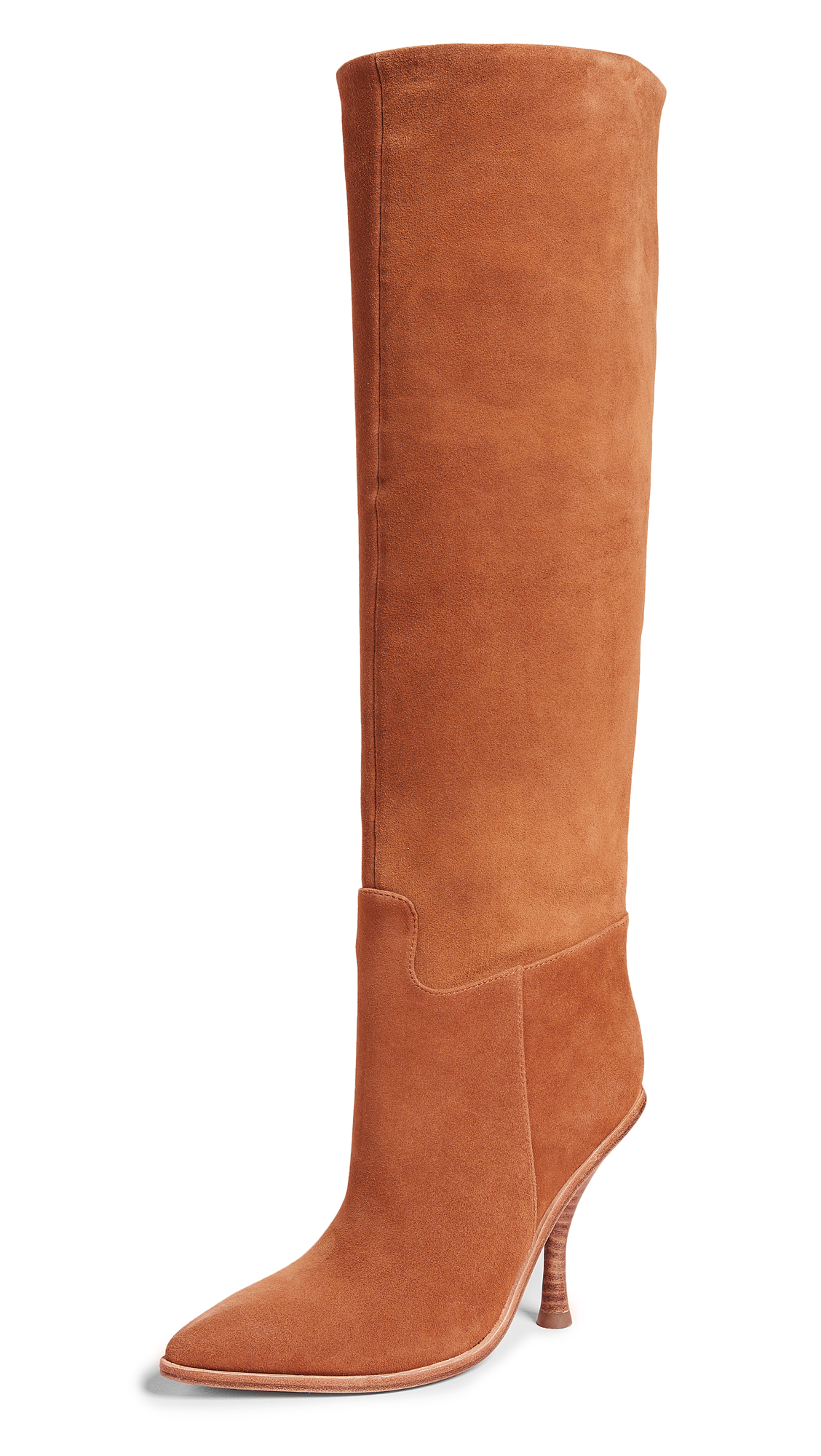 Sigerson Morrison Halie Pointed Toe Boots - Tan