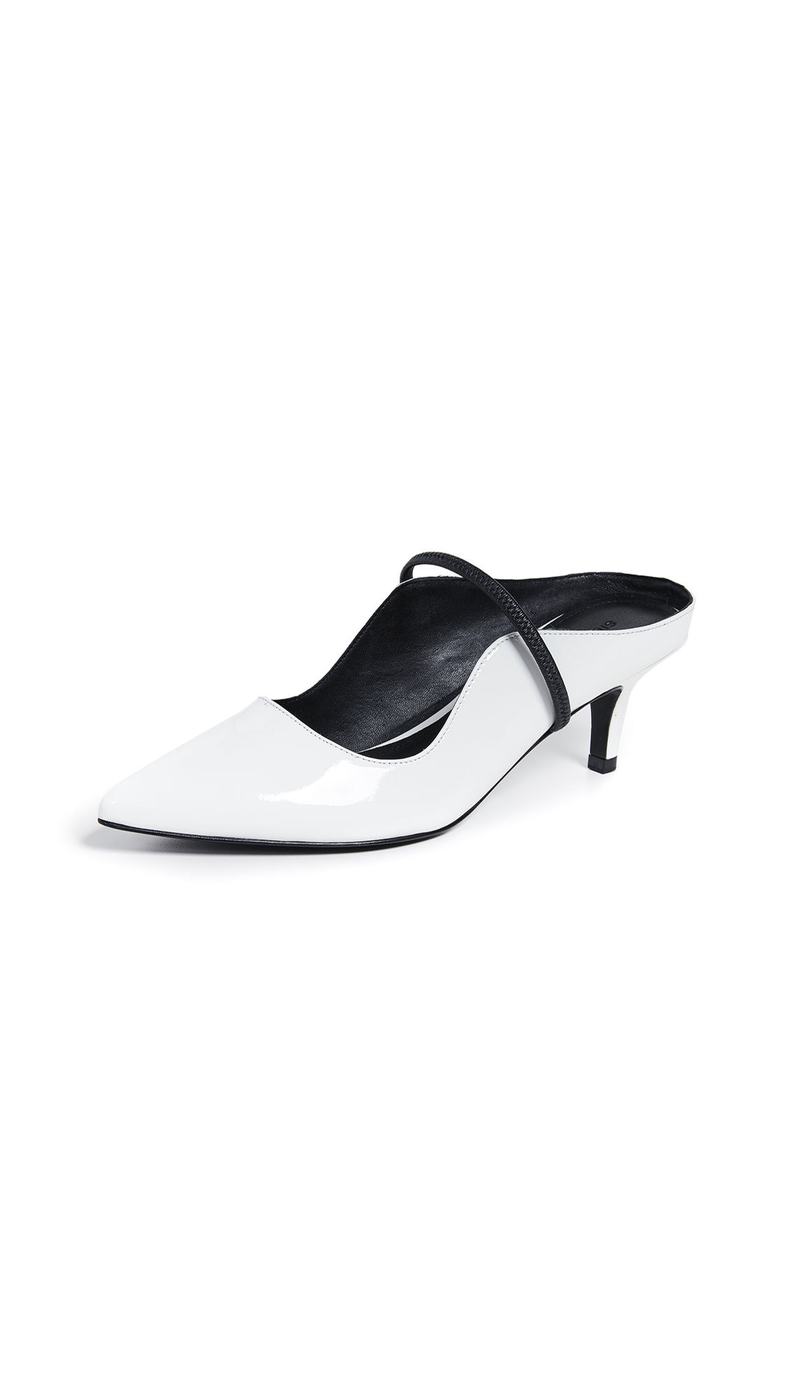 Sigerson Morrison Beryl Mule Pumps - White/Black
