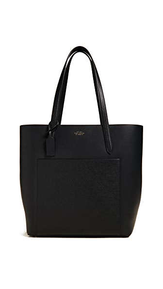 Smythson Panama North South Tote In Black
