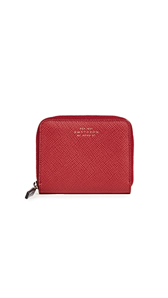 Panama Leather Coin Purse, Red