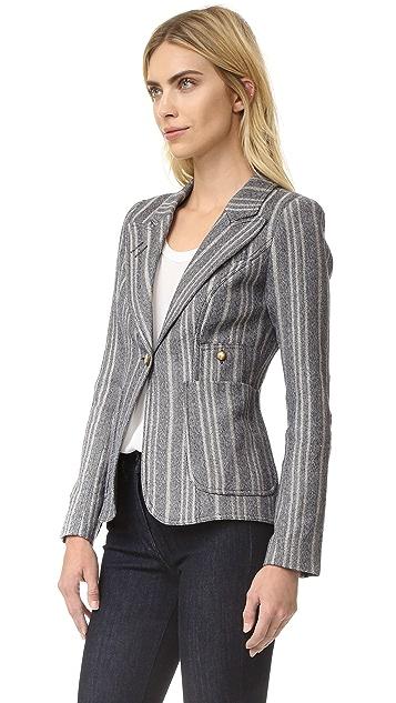 SMYTHE Tweed Duchess Blazer