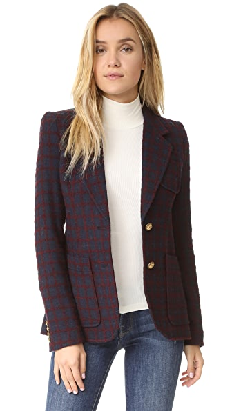 Smythe Two Button Blazer - Navy/Maroon at Shopbop