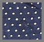 Navy Pin Dot/Caramel