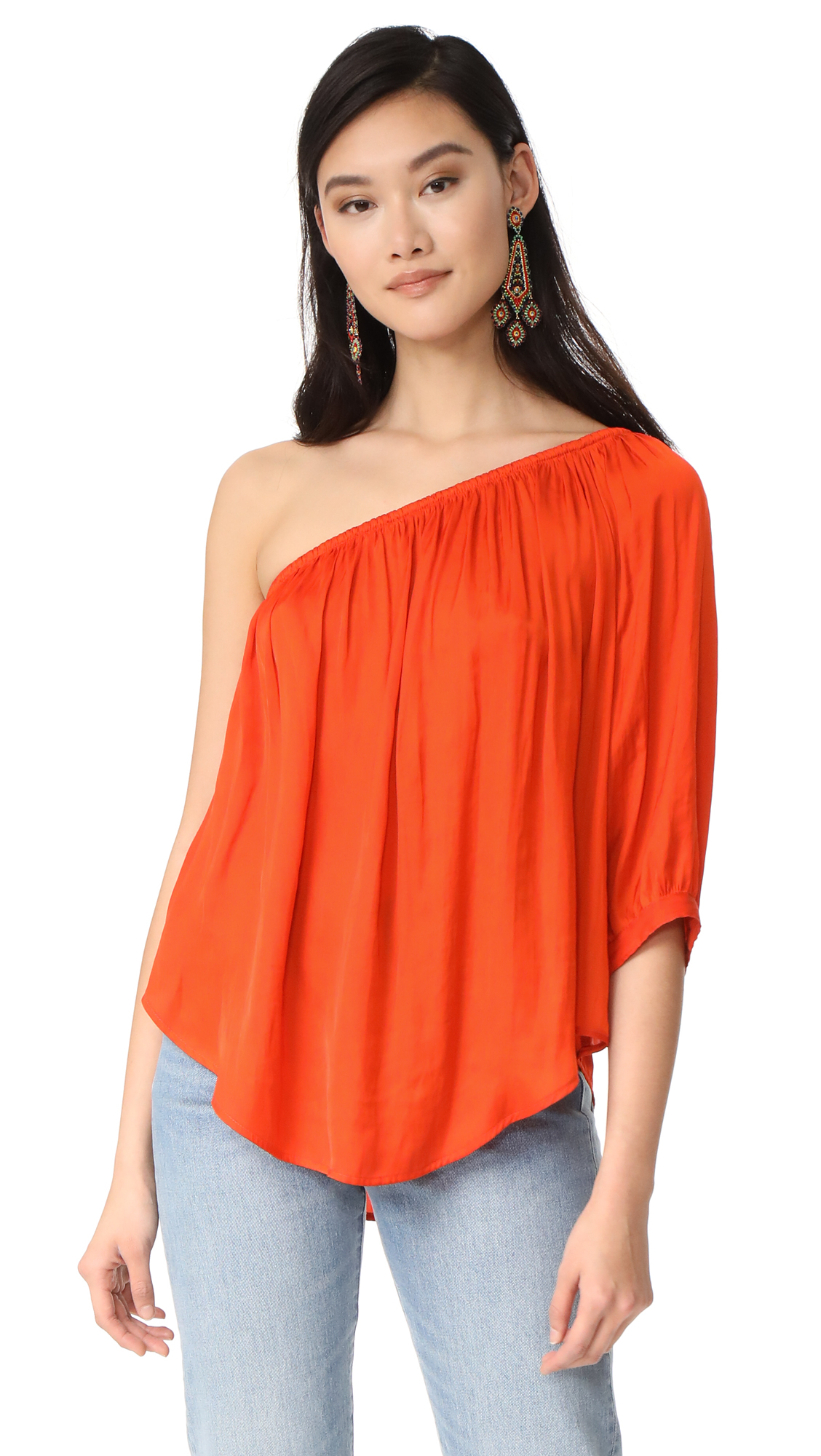 SMYTHE Single Shoulder Top - Poppy