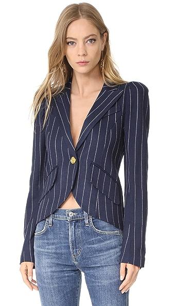 SMYTHE One Button Blazer - Navy Pinstripe